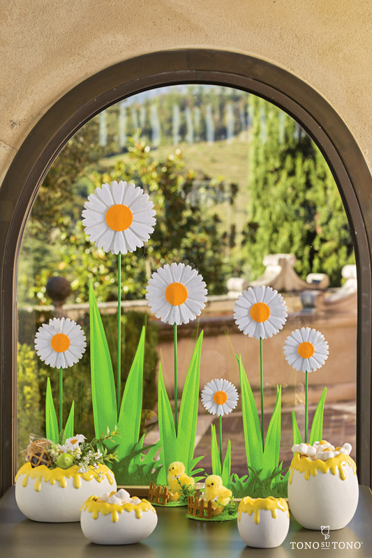 Window of daisies