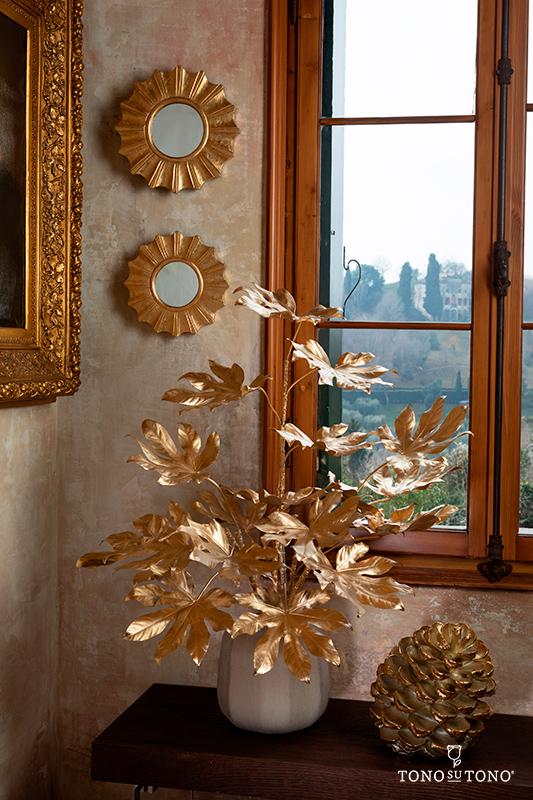 Artificial golden flowers