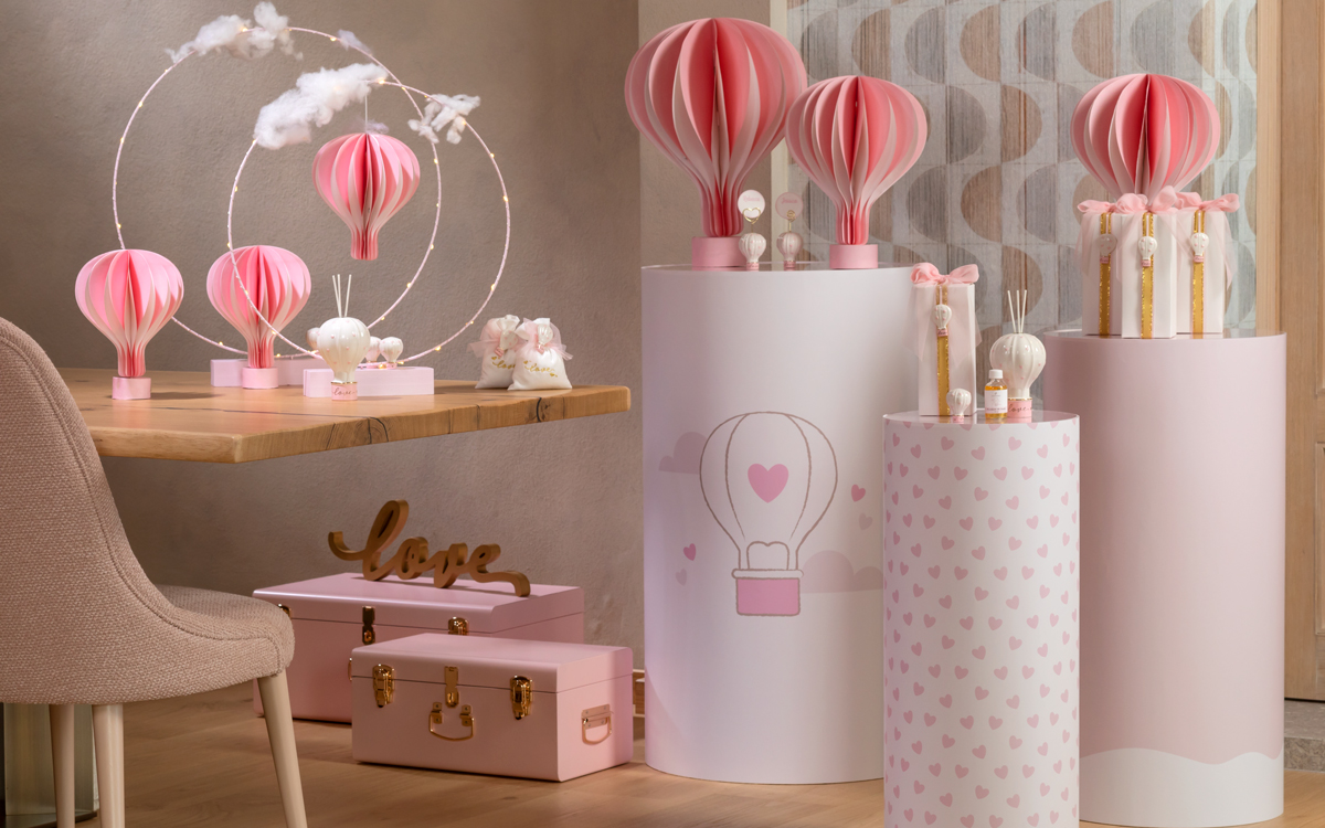 Cilindri Mongolfiera rosa