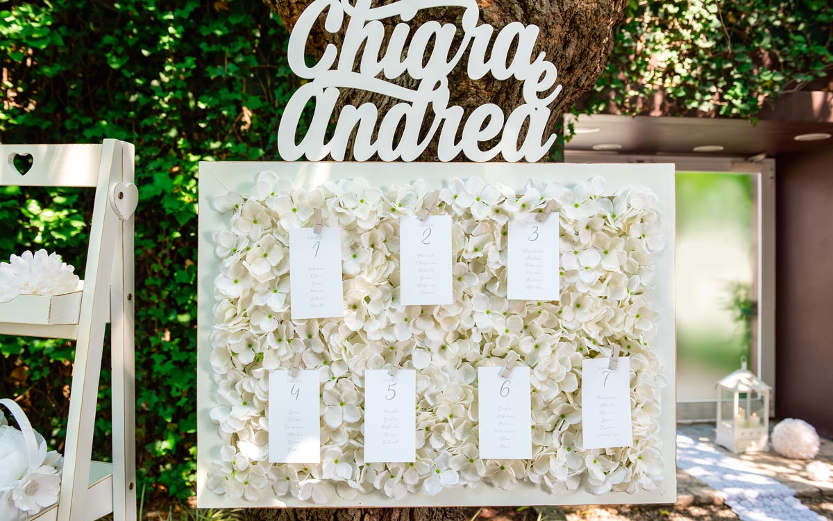 Romantic Wedding Table Plan