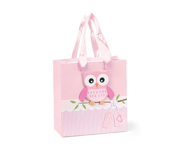 SHOPPER CON GUFO ROSA