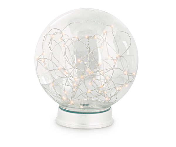 SFERA VETRO CON 50 MINI LED