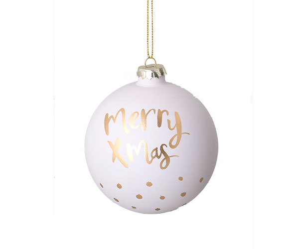 SFERA BIANCA MERRY CHRISTMAS