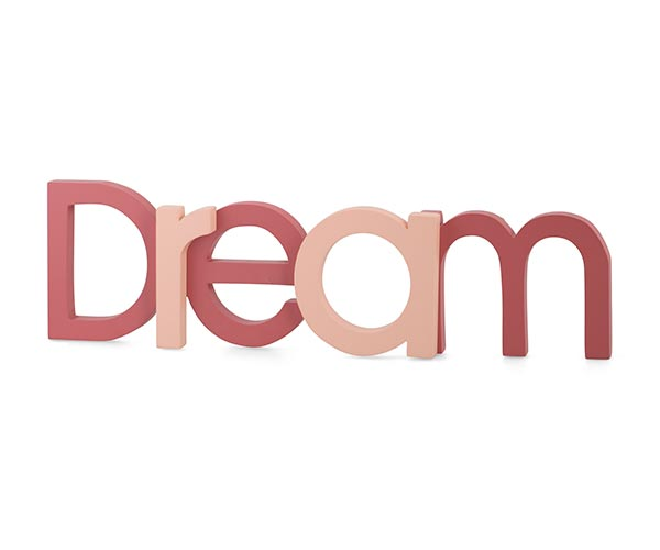 """SCRITTA """"DREAM"""" ROSA/MALVA"""