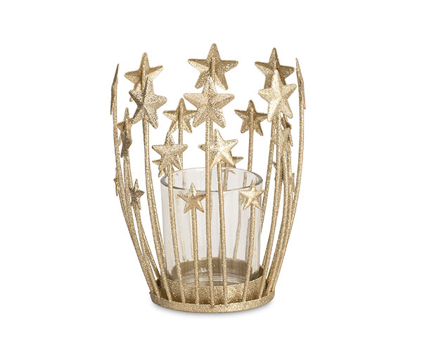 PORTA T-LIGHT STELLE ORO