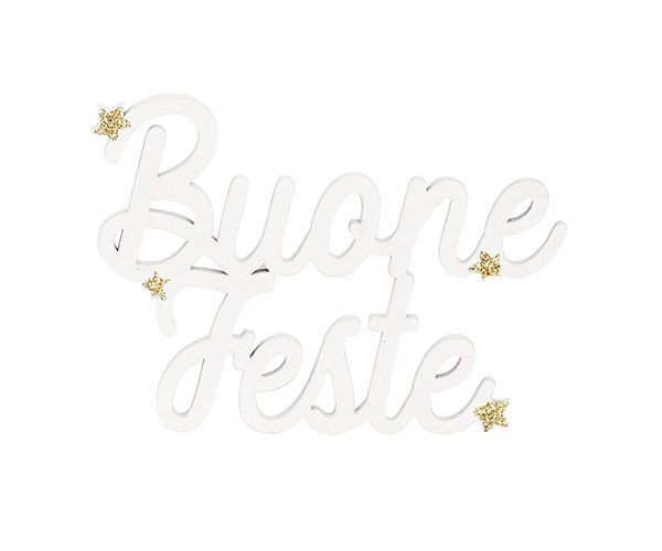 """DECORO BIANCO """"BUONE FESTE"""""""