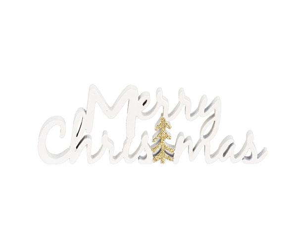 "SCRITTA BIANCA""MERRY CHRISTMAS"