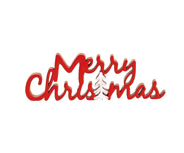 SCRITTA ROSSA MERRY CHRISTMAS