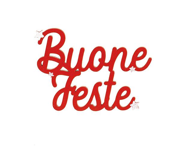 """DECORO ROSSO """"BUONE FESTE"""""""