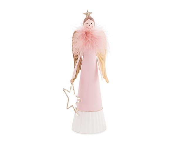 ANGELO ROSA CON PIUME/STELLA LED