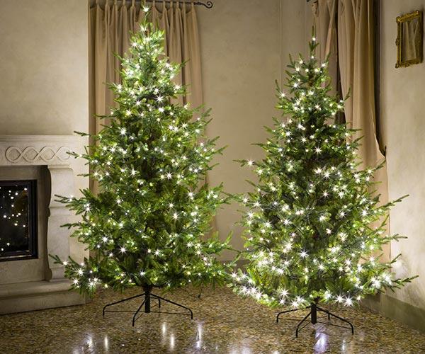 ABETE ST.MORITZ 3554 tips/600 microled luce bianca calda
