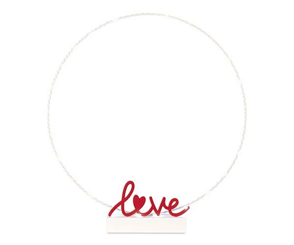 CERCHIO BIANCO CON LOVE E LED