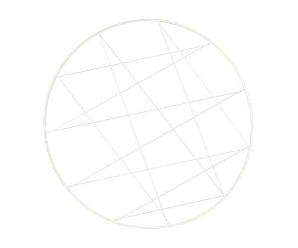 CERCHIO BIANCO GLITTER C/FILI