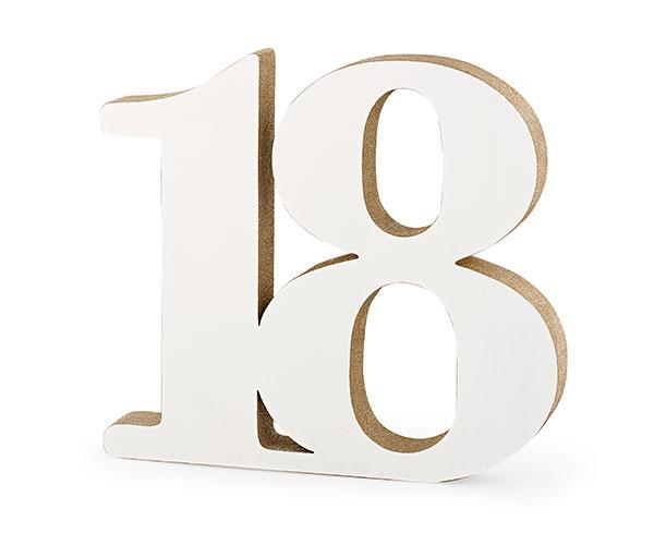 18 LEGNO BIANCO/GLITTER ORO