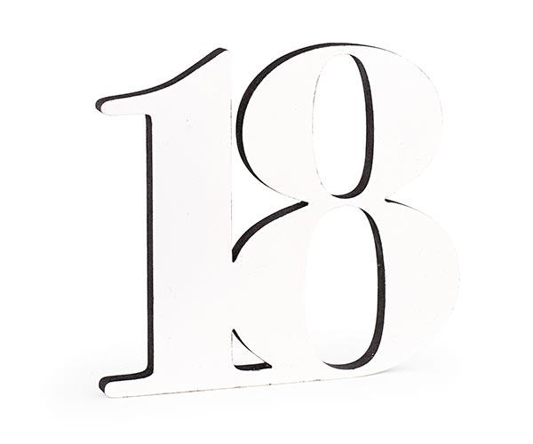 18 LEGNO BIANCO/GLITTER NERO