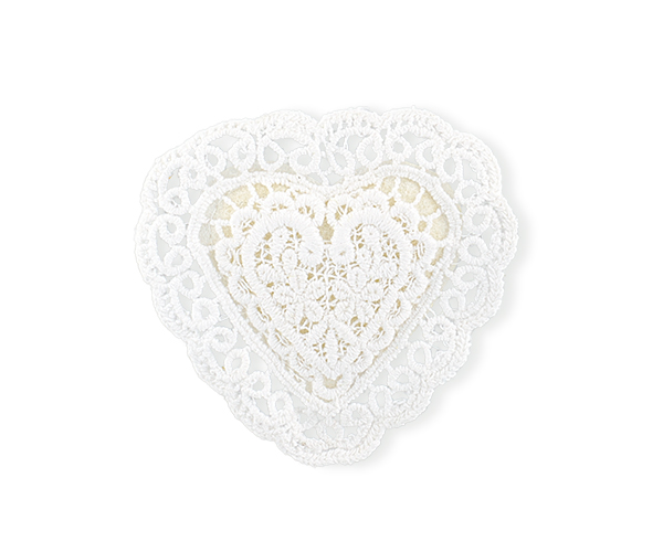 SET 6 STICKERS CUORE MACRAME